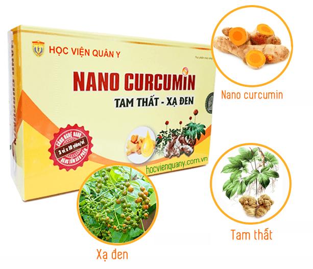 Viên uống Nano Curcumin Tam Thất Xạ Đen