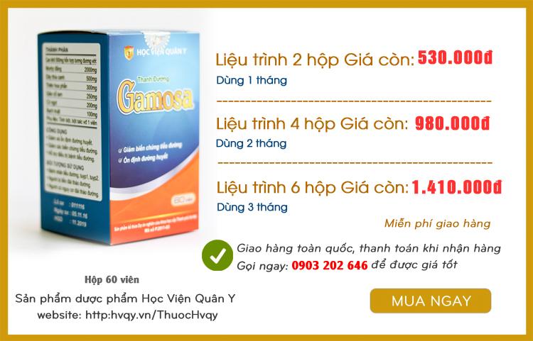 liệu trình thanh đường gamosa hvqy tại Đồng Nai