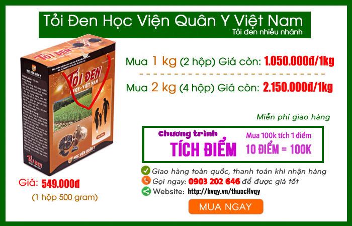 Tỏi đen Học Viện Quân Y Việt Nam