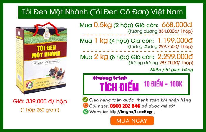 Tỏi đen một nhánh Việt Nam